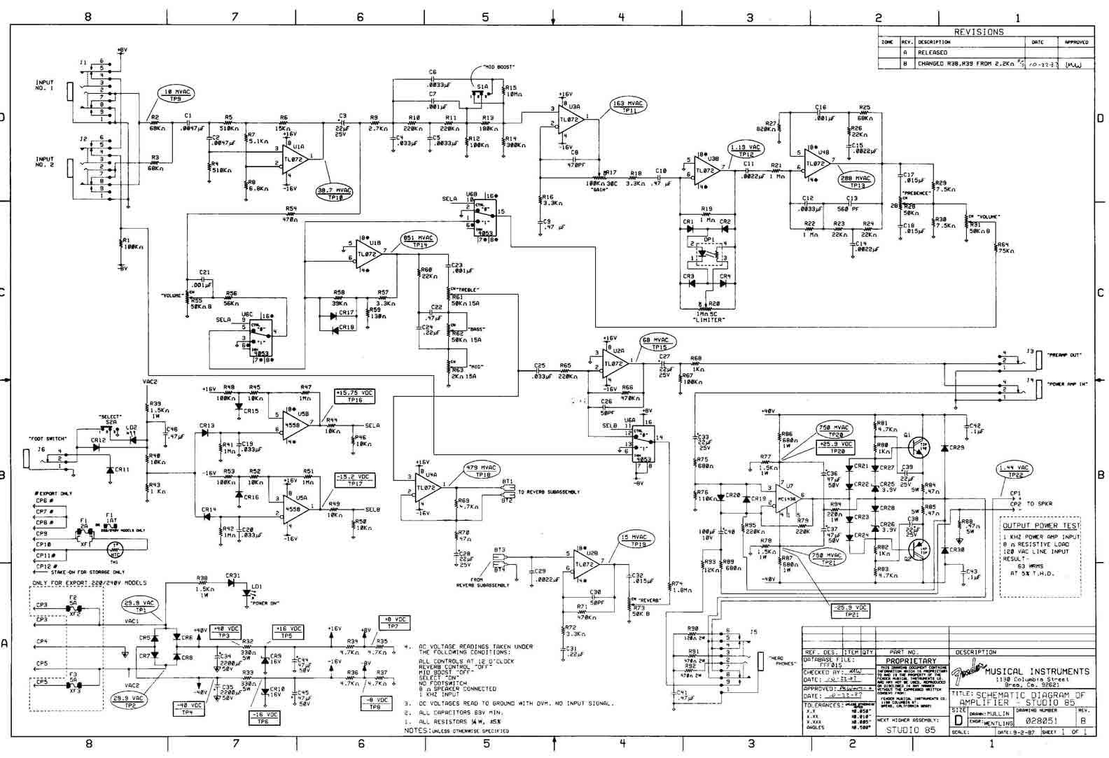 Fender Studio Bass Schematic - Electrical Work Wiring Diagram •